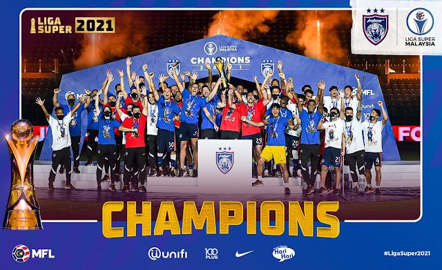 Tahniah JDT! Juara Liga Super 2021