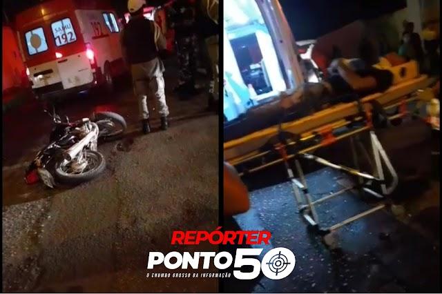 Dupla rouba moto e colide contra Corolla ao tentar fugir da PM no Monte Castelo