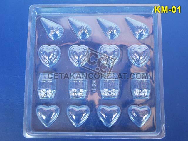 Cetakan Coklat KM001 KM01 KM1 KM cokelat love