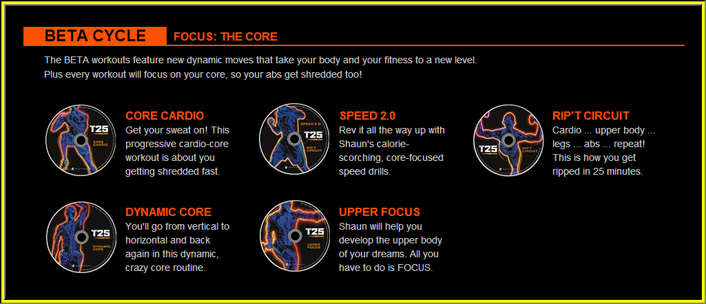 Focus T25 Workout Beta Cycle