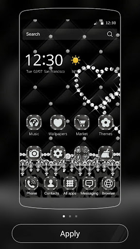 玩免費遊戲APP|下載Black Lace Leopard Theme app不用錢|硬是要APP