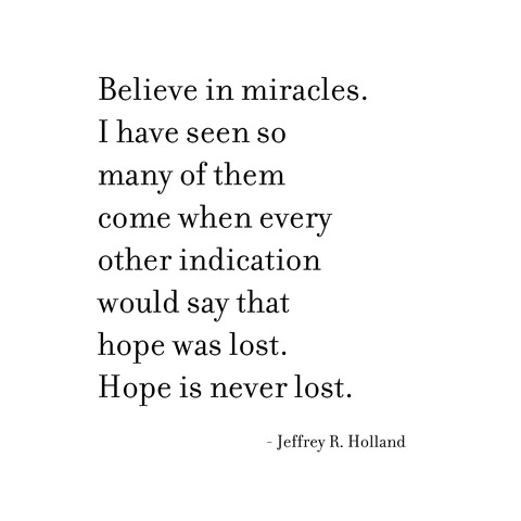 hope is never lost -- holland