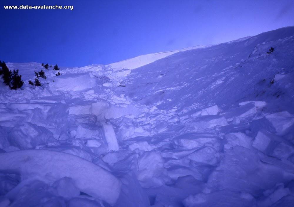 Avalanche Mont Thabor, secteur Petit Argentier, chalet du Jeu - Photo 1 - © Duclos Alain