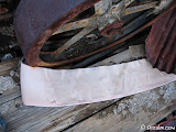 The canvas belt is still sitting next to the flywheel.