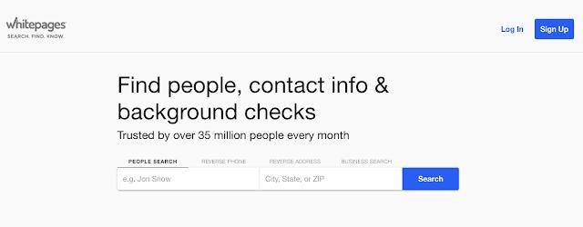 Encontre pessoas, informações de contato e verificações de antecedentes