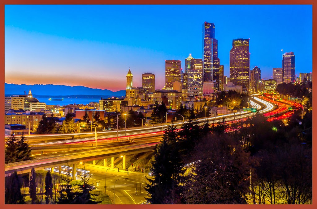 """""""Seattle Skyline at Dusk"""" by Tim Snyder - Honorable Mention A General"""