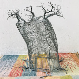 Baobab Tree Wire Sculpture