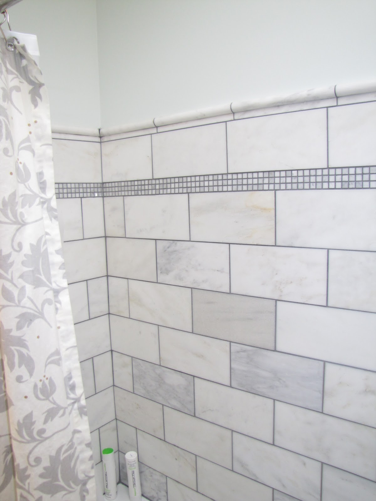 Last night 39 s leftovers happiness is a finished bathroom - Home depot bathroom tile installation cost ...