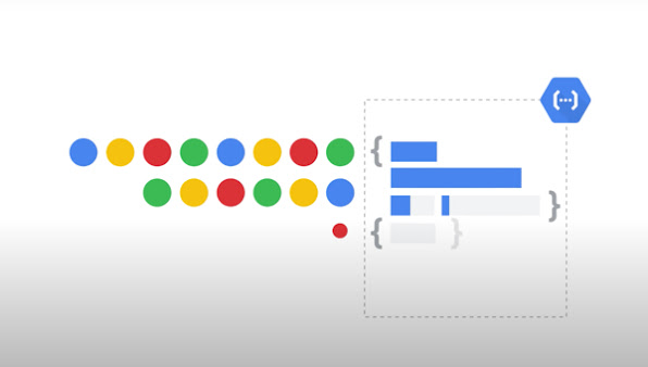 Abstract thumbnail with colorful dots and Cloud Functions product icon