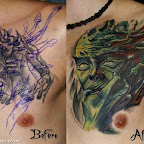 doll cover alien - Chest Tattoos Designs