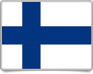 Finnish framed flag icons with box shadow