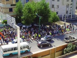 Raffour (Bouira) :Marche et protestations