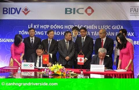 Hình 1: BIC ký kết thỏa thuận hợp tác chiến lược với nhà bảo hiểm toàn cầu đến từ Canada