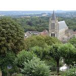Vue sur l'église Saint-Pierre de Montfort-l'Amaury