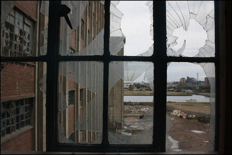 Broken windows - Millennium Mills