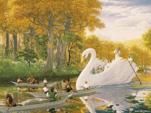 Great Swan And Lilliputians, Spirit Companion 4