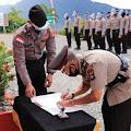 Kapolres KKA, Pimpin Upacara Sertijab Kasat Binmas