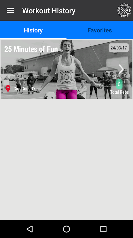 Girls Gone RX Daily Workout- screenshot