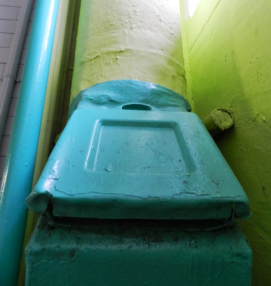 the Communist Bloc garbage chute on the 3rd floor