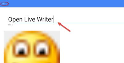 error 400 ใน open live writer