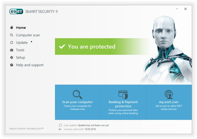 ESET NOD32 Antivirus and ESET Smart Security