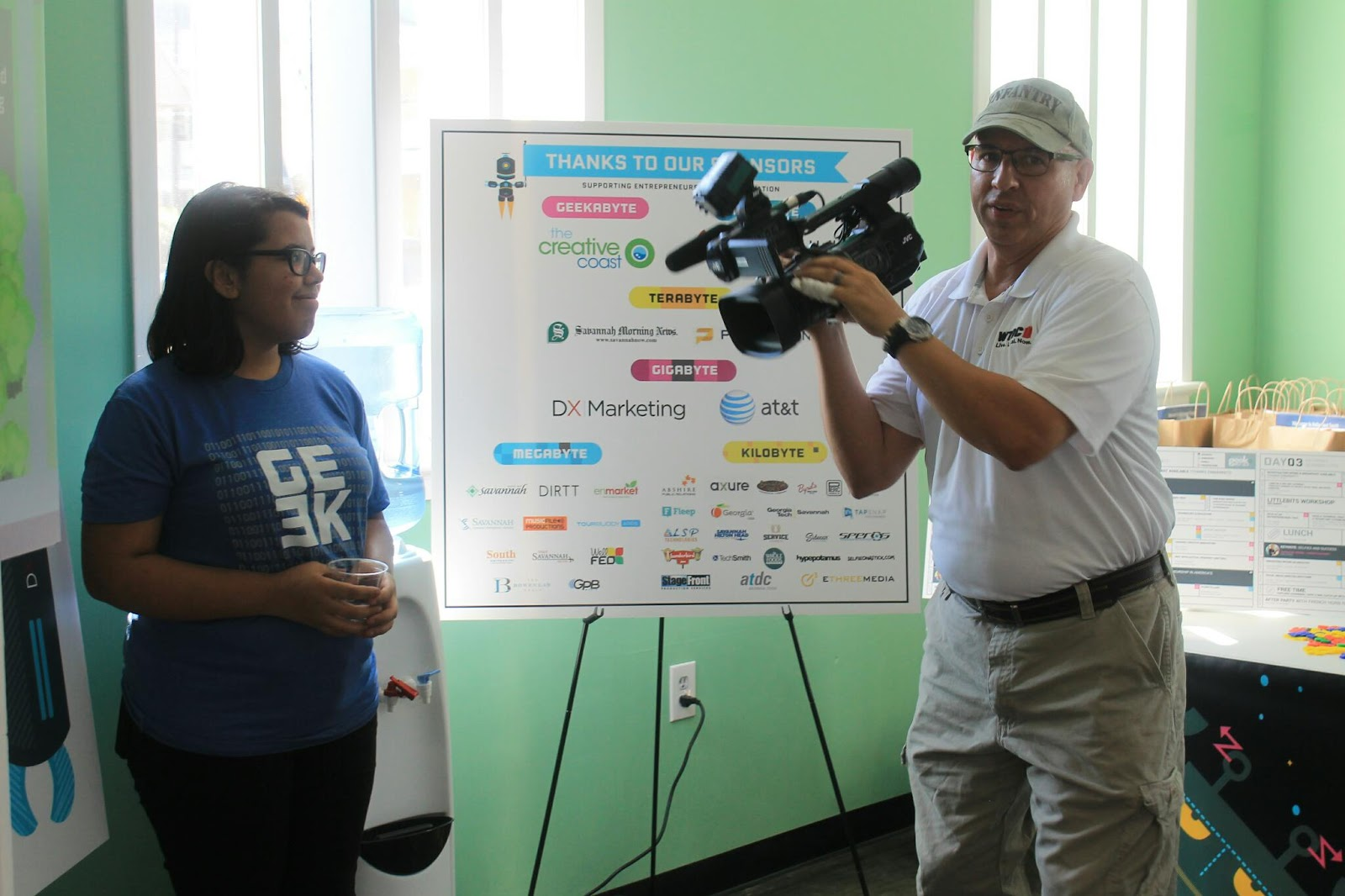 WTOC at Geekend Technology Conference 2015 Savannah Georgia