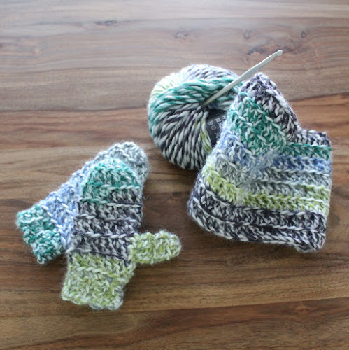 Not 2 late to craft: Guants i coll Hudson de ganxet / Hudson crochet cowl and mittens