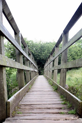 Bridge on the Poetry Path in Kirkby Stephen in Cumbria England
