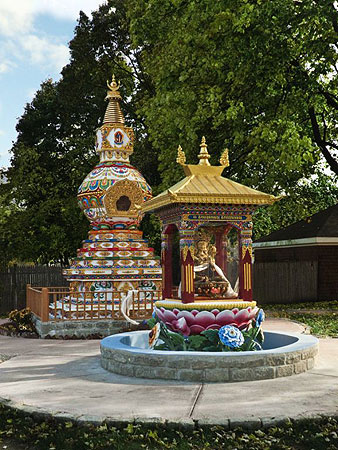 The Kalachakra Stupa at Kurukulla Center, USA