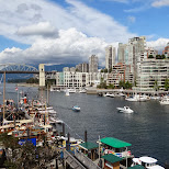 gorgeous view from Granville Island, Vancouver in Vancouver, British Columbia, Canada