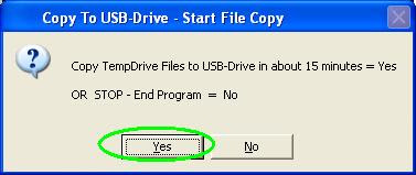 confirm copy temdrive files to USB