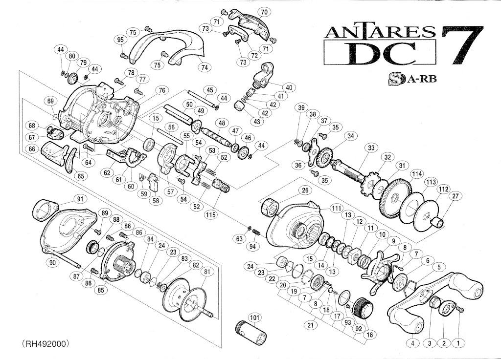 Servicing Shimano Antares Dc7