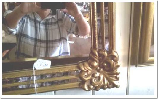Huge ornate mirror