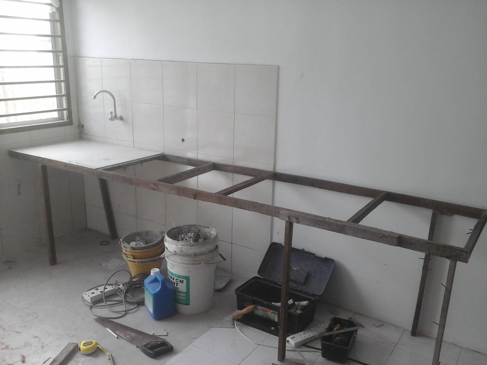 Meja Dapur Konkrit Table Top Concrete Di Sepang