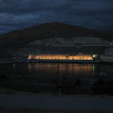 Laser show on Grand-Coulee and lightening show above