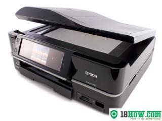 How to reset flashing lights for Epson Artisan 835 printer