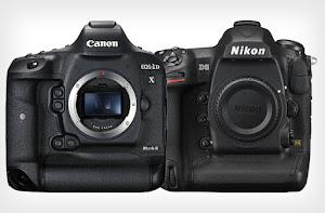 """So sánh thông số kỹ thuật 2 """"siêu phẩm"""" của Canon và Nikon"""