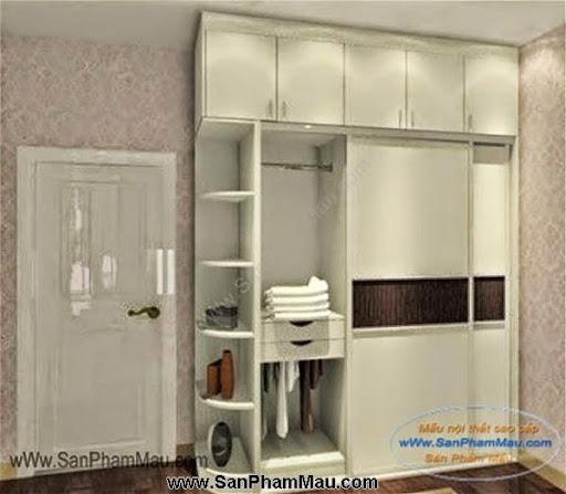 Các mẫu tủ quần áo bằng gỗ công nghiệp-2