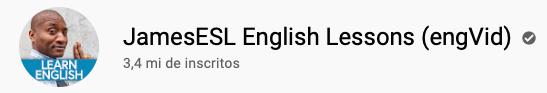 101 canais do YouTube para aprender inglês de graça JamesESL English Lessons (engVid)