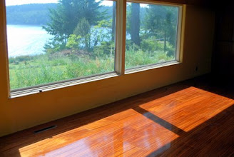 Photo: This floor was installed at customer's home in Washington state, this is our honeycomb sandwich panel with Sapele veneer and 5 coats of poly urethane
