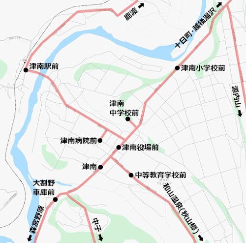 津南バス路線図