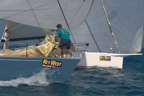 J122 and J44 sailing Key West Race Week