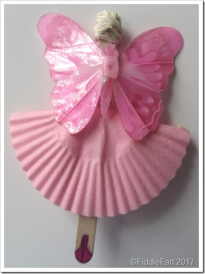 Popsicle Stick Pink Fairy 2