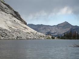 Emeric Lake. Rain clouds approaching.