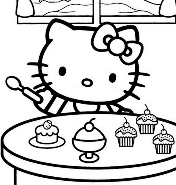 Hello Kitty Coloring Page Hello Kitty Coloring Pages Futpal Pictures