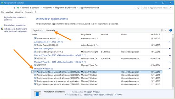 disinstallare-aggiornamenti-windows10