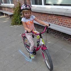 vrijdag fietsdag met de vlinderklas