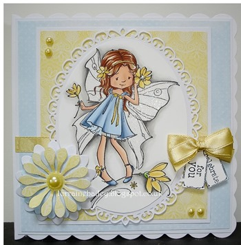 Lorraine B. - blue & yellow