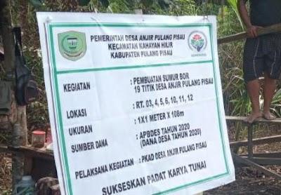 Tak Dilibatkan, BPD Anjir Pulpis Duga Realisasi Pembangunan tak Transparan