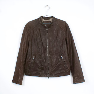 Coach Brown Leather Racer Jacket